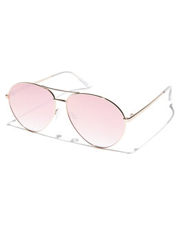 GOLD PINK WOMENS ACCESSORIES QUAY EYEWEAR SUNGLASSES - QW-000406GLDPK