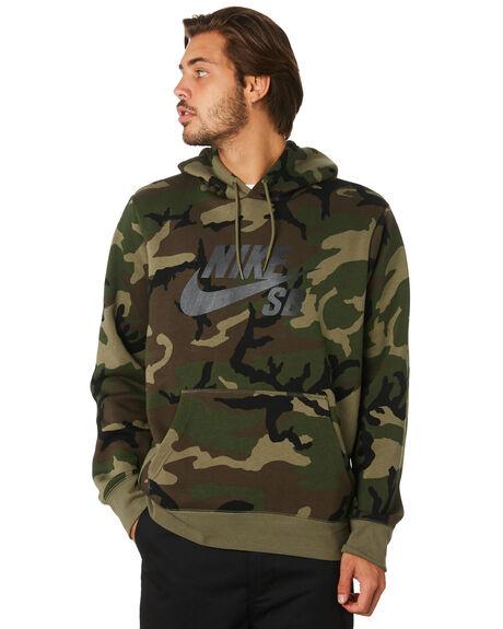 OLIVE BLACK MENS CLOTHING NIKE JUMPERS - AT9755222