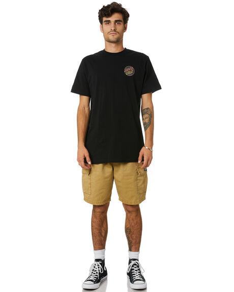 BLACK MENS CLOTHING SANTA CRUZ TEES - SC-MTD0784BLK