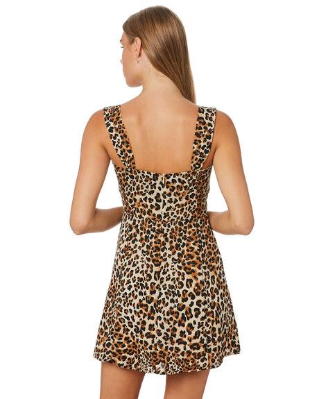 LEOPARD WOMENS CLOTHING LULU AND ROSE DRESSES - LU23877LEOP