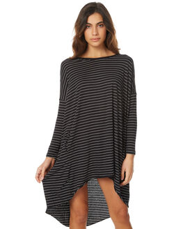SLEEK WOVEN STRIPE WOMENS CLOTHING THE BARE ROAD DRESSES - 790351-03STR