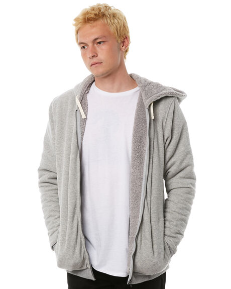 HEATHER GREY MENS CLOTHING BANKS JUMPERS - WFL0118HGR