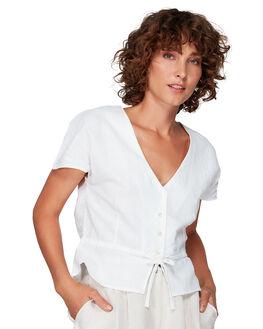 WHITE WOMENS CLOTHING RVCA FASHION TOPS - RV-R292185-WHT