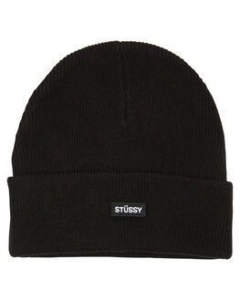 BLACK MENS ACCESSORIES STUSSY HEADWEAR - ST706007BLK