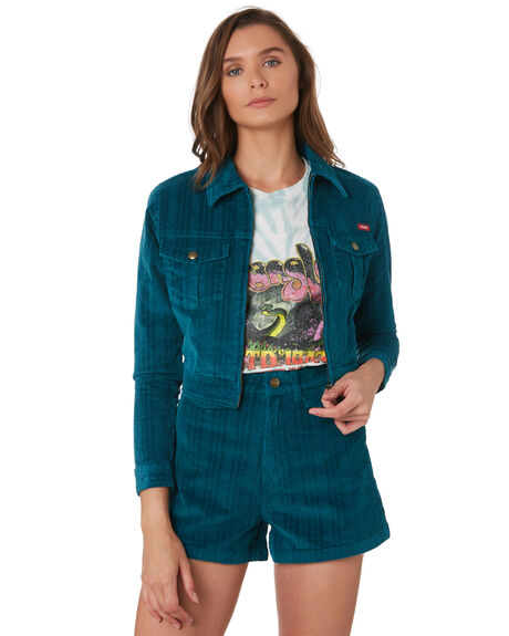 PEACOCK GREEN WOMENS CLOTHING WRANGLER JACKETS - W-951501-559PGRN