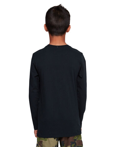 BLACK KIDS BOYS DC SHOES TOPS - UDBZT03245-KVJ0