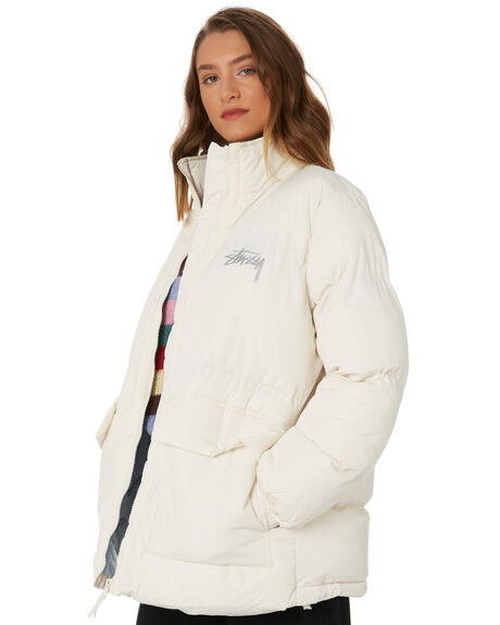 OFF WHITE WOMENS CLOTHING STUSSY JACKETS - ST106700OFWHT