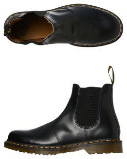 BLACK SMOOTH MENS FOOTWEAR DR. MARTENS BOOTS - SS22227001BLKM