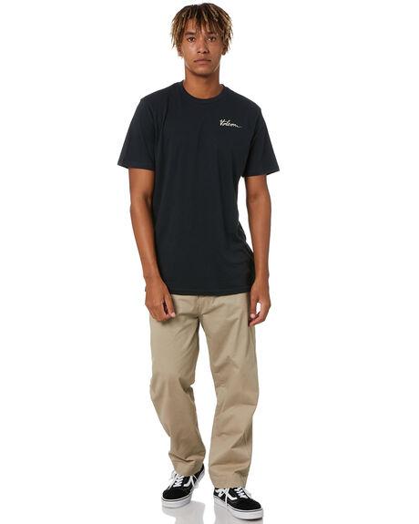 BLACK MENS CLOTHING VOLCOM TEES - A5002007BLK