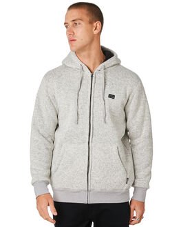 LIGHT GREY HEATHER MENS CLOTHING BILLABONG JUMPERS - 9595633LTGRY