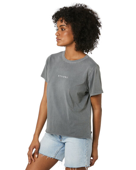 WASHED GREY WOMENS CLOTHING THRILLS TEES - WTR20-100GWGRY