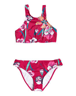 CERISE PANSIES S KIDS GIRLS ROXY SWIMWEAR - ERGX203274-MQT7