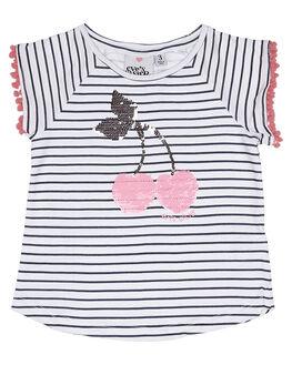 NAVY WHITE PINK KIDS TODDLER GIRLS EVES SISTER TEES - 8060094STR