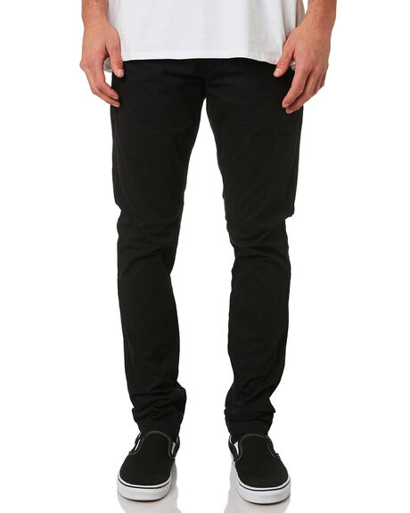 BLACK MENS CLOTHING DR DENIM PANTS - 1310101-101