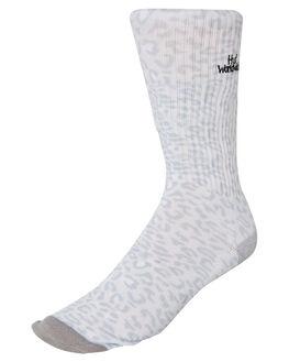 WHITE MENS CLOTHING HUF SOCKS + UNDERWEAR - SK00373-WHITE