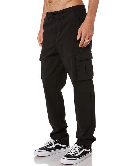 BLACK MENS CLOTHING RUSTY PANTS - PAM1014BLK