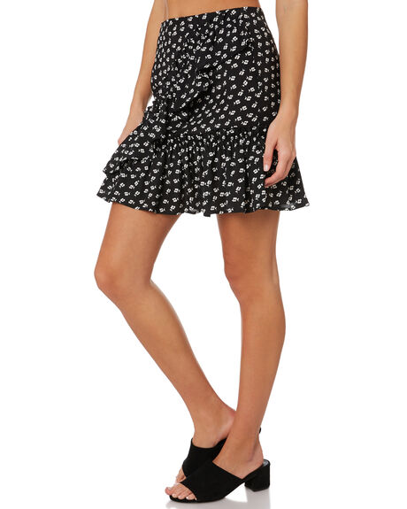 BLACK W IVORY FLORAL WOMENS CLOTHING THE FIFTH LABEL SKIRTS - 40190533-4FLORAL