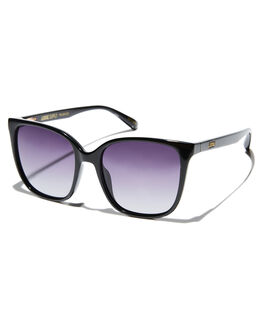 GLOSS BLACK WOMENS ACCESSORIES LOCAL SUPPLY SUNGLASSES - FIELDBKG4