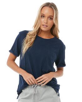DRESS BLUES WOMENS CLOTHING ROXY TEES - ERJZT04210BTK0