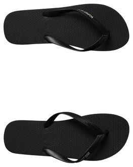 BLACK GREY MENS FOOTWEAR KUSTOM THONGS - 4946212HBKGRY