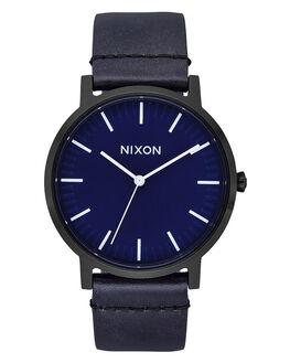 ALL BLACK DARK BLUE MENS ACCESSORIES NIXON WATCHES - A1058-2668-BLKBL