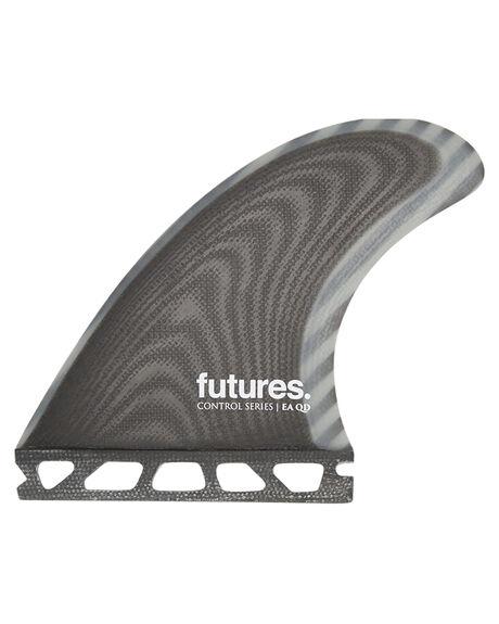 BLACK GREY BOARDSPORTS SURF FUTURE FINS FINS - QEA-020209BLKG