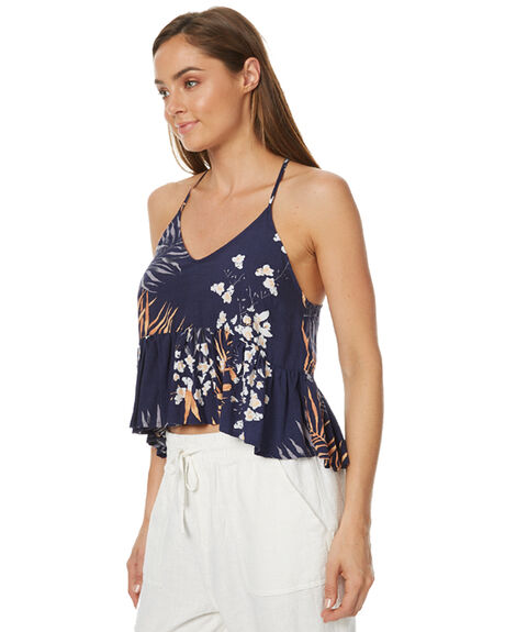 NAVY BLUE OUTLET WOMENS RUSTY FASHION TOPS - SCL0267NVB