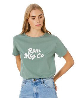 SLATE LIGHT GREEN WOMENS CLOTHING RPM TEES - 20WW01BSTLTGN
