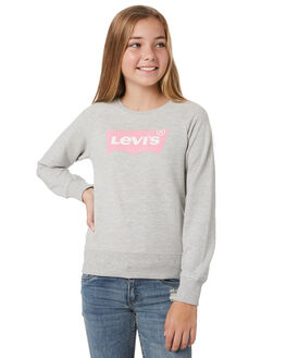 LIGHT GREY HEATHER KIDS GIRLS LEVI'S JUMPERS + JACKETS - 37382-0012G2H