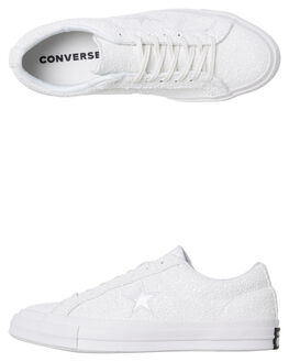 WHITE SILVER WOMENS FOOTWEAR CONVERSE SNEAKERS - SS162618CWHTW