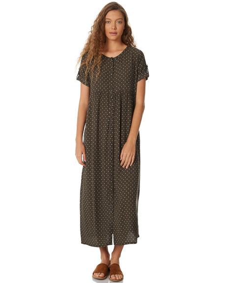 OLIVE POLKA WOMENS CLOTHING SAINT HELENA DRESSES - SH18AW502-OLI