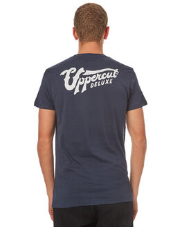 NAVY WHITE MENS CLOTHING UPPERCUT TEES - UPDTS0269NVYWH