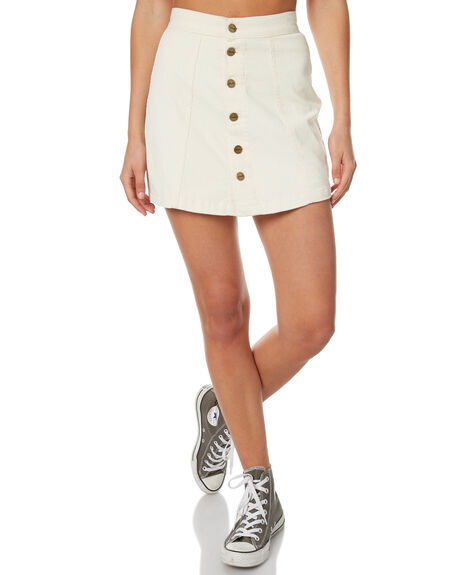CREAM WOMENS CLOTHING AFENDS SKIRTS - 52-03-053CRE
