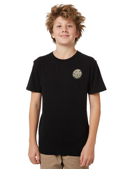 BLACK KIDS BOYS RIP CURL TEES - KTEMB20090