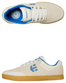 WHITE BLUE GUM MENS FOOTWEAR ETNIES SKATE SHOES - 4101000403156