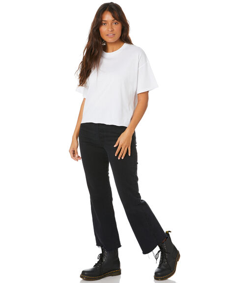 WHITE WOMENS CLOTHING SWELL TEES - S8211004WHITE