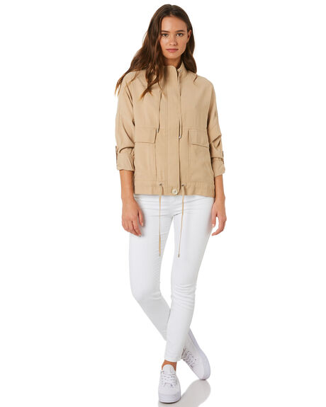 DEEP SAND OUTLET WOMENS NUDE LUCY JACKETS - NU23572DSND