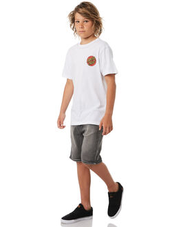 WHITE KIDS BOYS SANTA CRUZ TEES - SC-YTC8097WHT