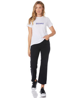 WHITE WOMENS CLOTHING STUSSY TEES - ST105000WHT