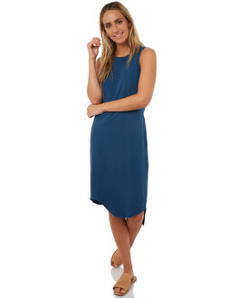 INK BLUE WOMENS CLOTHING SILENT THEORY DRESSES - 6090003INKB