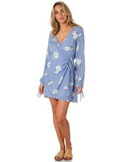 CORNFLOWER FLORAL WOMENS CLOTHING ELWOOD DRESSES - W01707CORN