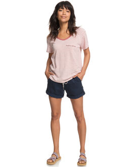WHITERED ROSE THIN WOMENS CLOTHING ROXY TEES - ERJZT04335MMG5