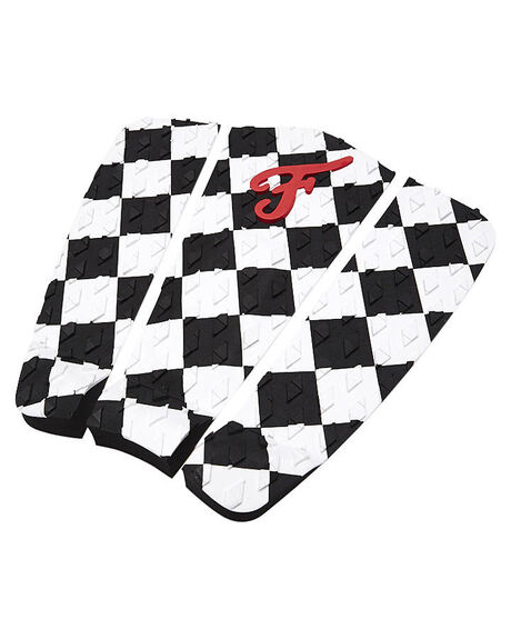 BLACK WHITE BOARDSPORTS SURF FAMOUS TAILPADS - TIMPAD001BLKWH