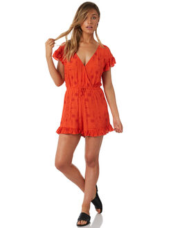 ORANGE WOMENS CLOTHING TIGERLILY PLAYSUITS + OVERALLS - T382425ORA