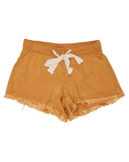 EARTHY CARAMEL KIDS GIRLS ISLAND STATE CO SHORTS + SKIRTS - ULUWATUHORTS-ERTHC