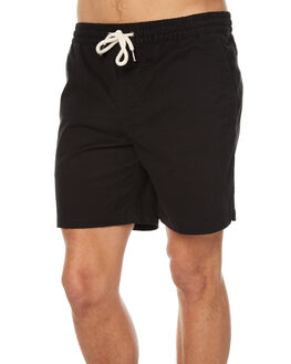 BLACK MENS CLOTHING ACADEMY BRAND SHORTS - 18S624BLK