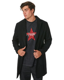 BLACK MENS CLOTHING THE PEOPLE VS JACKETS - W18037BLK