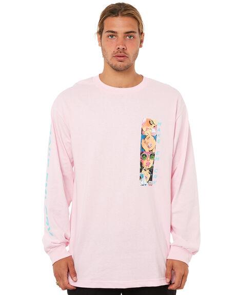PINK MENS CLOTHING HUF TEES - TS00214PNK