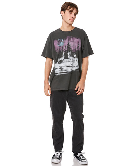 VINTAGE BLACK MENS CLOTHING THE PEOPLE VS TEES - AW21M013VBLK