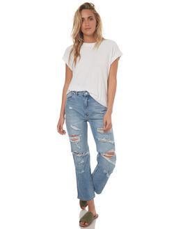 WHITE WOMENS CLOTHING RUSTY TEES - TTL0898WHT
